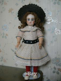 18 Antique German Bisque Head Doll Excellent Condition Circa 1890