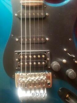 1983 Kramer Focus 3000 Electric Blue With Original Case 25952 Excellent Condition