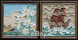 2 Dutch Porceleyne fles Delft cloisonne tiles, Excellent condition