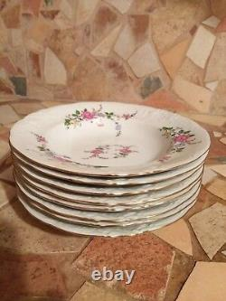 49 Pcs'Bavarian Rose' Fine China from Royal Kent Poland Excellent Condition