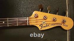 69 Fender Precision Bass Excellent Original Condition Sunburst Studio Bass CASE