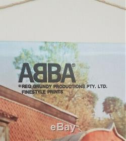 ABBA Cloth Wall Hanging Scroll Australia 1976 Excellent Condition
