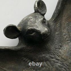 Antique 1890 Art Nouveau Bat Card Tray Bradley & Hubbard Excellent Condition