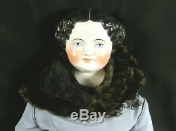 Antique Extra Large Giant 36 China Head Doll Flat Top Excellent Condition Huge