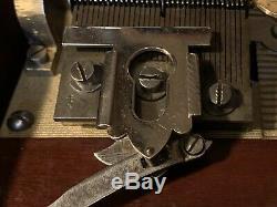 Antique Original MIRA Disc Music Box W Zither & Discs Excellent Condition