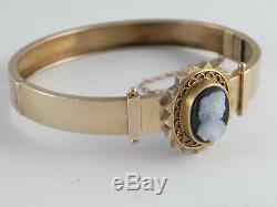 Antique Victorian 15K 15ct Gold Cameo Bracelet Excellent Condition