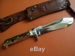 Antique puma white hunter knife 6377 n°49571 original excellent condition germa