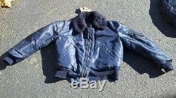 B-15C Rare 1950's Blue Flight Jacket Size 40 Excellent Condition 100% Original