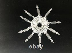 Baccarat Crystal Figural Candlesticks Pair Rare Excellent Condition Luminaires