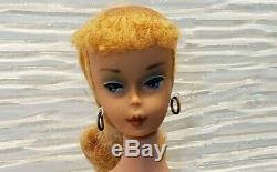 Beautiful Vintage 1960 Japan Barbie #4 Blonde Ponytail Excellent Condition