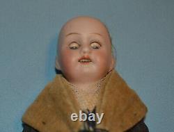 Charming Antique German Bisque Head Doll All Original, Excellent Condition