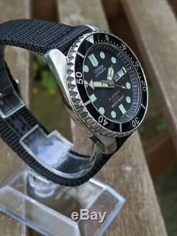 Citizen 4-824124 Diver w Patina/Kanji wheel- Excellent Original Condition