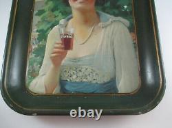 Coca-Cola Original 1921 Tray Navy Girl Excellent Condition