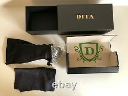 Dita Flight 002 Sunglasses // Titanium (Silver + Grey) // Excellent Condition