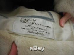 EMBA AZURENE mink NATURAL BLUE-GREY MINK 3/4 COAT/VINTAGE/EXCELLENT CONDITION