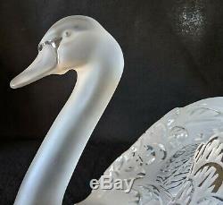 Fantastic Large Lalique Head Up Swan Excellent Condition No Chips No Cracks