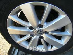 GOLF MK6 16 ORIGINAL SILVER PESCARO ALLOY WHEELS excellent CONDITION also tyres