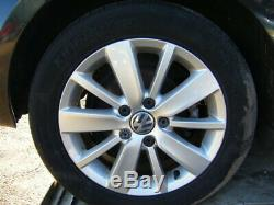 GOLF MK6 16 ORIGINAL SILVER PESCARO ALLOY WHEELS excellent CONDITION tyres