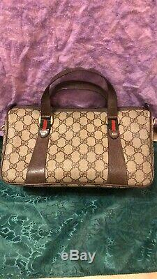 GUCCI Sherry Line Boston Satchel Excellent Condition I Am The Original Owner
