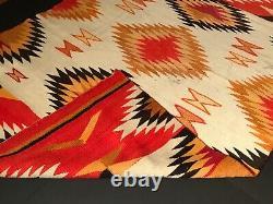 Historic Navajo Handspun Wearing Blanket, Excellent Original Unrestored Condition