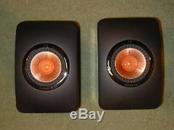 KEF LS50 LS 50 loudspeakers speakers excellent condition original box & packing
