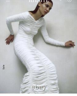 Khaite Lana Viscose Dress -ivory -XS/S. Excellent Condition-original $2800