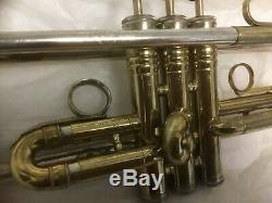 King Dual Bore Symphony Silver-tone Trumpet, Excellent Original Condition