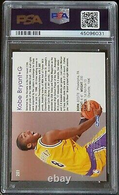 Kobe Bryant 1996 NBA Hoops Official Skybox Rookie Card, PSA 10! Excellent Shape