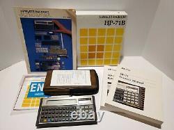 L2 HP 71B Hewlett Packard Calculator in Original Box Excellent Condition
