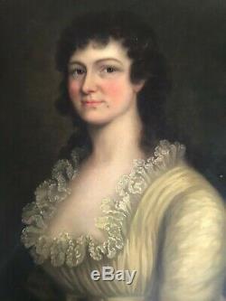 LARGE ANTIQUE 18th CENTURY GEORGIAN PORTRAIT PAINTING Excellent Condition