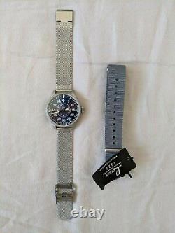 Laco Aachen 39mm Pilot Watch Blue Face Excellent Condition