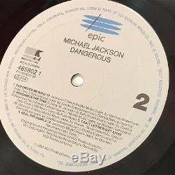 MICHAEL JACKSON Dangerous 1991 UK double vinyl LP EXCELLENT CONDITION original