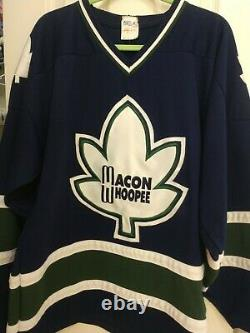 Macon Whoopee Hockey size Large Original Blue Jersey Excellent Condition