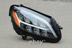 New! Perfect! 19 20 Mercedes W205 C-Class Headlight Set Pair Left + Right OEM