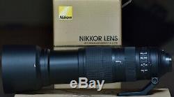 Nikon 200-500mm f5.6E ED VR AF-S Lens excellent condition, original box