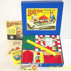 ORIGINAL VINTAGE 1957 BAYKO BUILDING SET No1 EXCELLENT CONDITION IN ORIGINAL BOX
