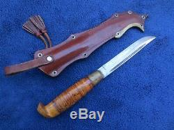Original Finnish Puukko Large Knife And Sheath Excellent Condition