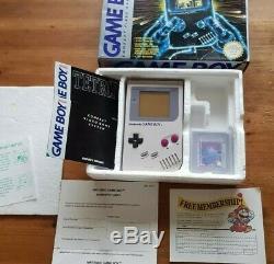 Original Nintendo Game Boy DMG-01 Boxed, Complete, Excellent condition