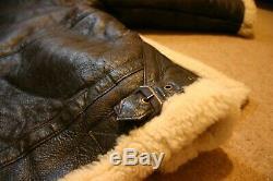 Original Shearling Vintage Sheepskin Flying Jacket M/LG Excellent Condition