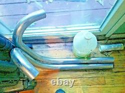 Original Triumph pre-unit exhaust pipes 1954-59 5T 6T, used pair excellent shape