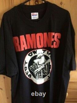 Original Vintage RAMONES Tour T Shirt 1992 Tour. Punk Rock. Excellent Condition