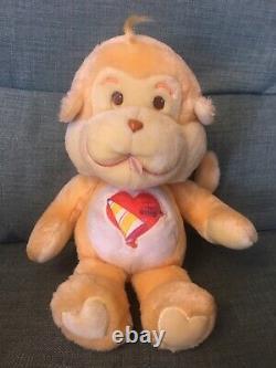 Playful Heart Monkey 1980s Original Care Bear Cousin Rare- Excellent Condition