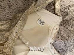 RARE Vintage 1950s Gold Lame Playsuit/Swimsuit Excellent Condition