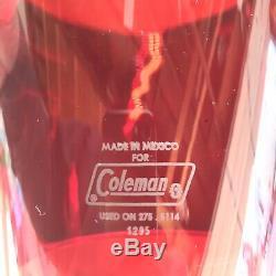 Rare Coleman 275 Size Ruby Red Lantern Globe! Original! Excellent Shape! A-1