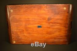 Rio De Janeiro MORPHO BUTTERFLY 25 X 15 TRAY INLAID TEAK EXCELLENT CONDITION