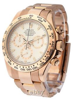 Rolex Daytona 116505 Rose Gold With Original Box And Papers Excellent Condition