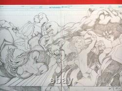 SUPERGIRL Double Page Spread! KEVIN MAGUIRE! Excellent condition Original Art