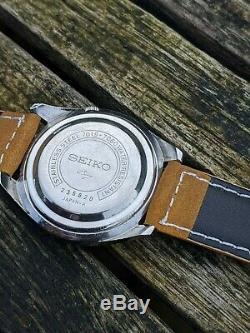 Seiko 7019-7060 5 Actus Silver-Mauve dial Kanji Excellent Original Condition