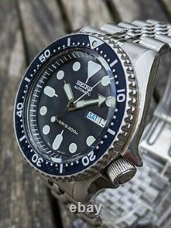 Seiko 7S26-0020 SKX007 Diver w Patina Excellent All-Original Condition