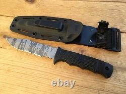 Sog Seal Pup Tiger Stripe Knife, Kydex Sheath, Splendid Condition Seki, Japan